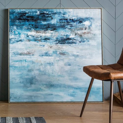square frame blue sea