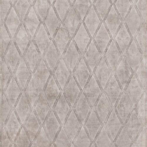 viscose rug handmade diamond shapes gray