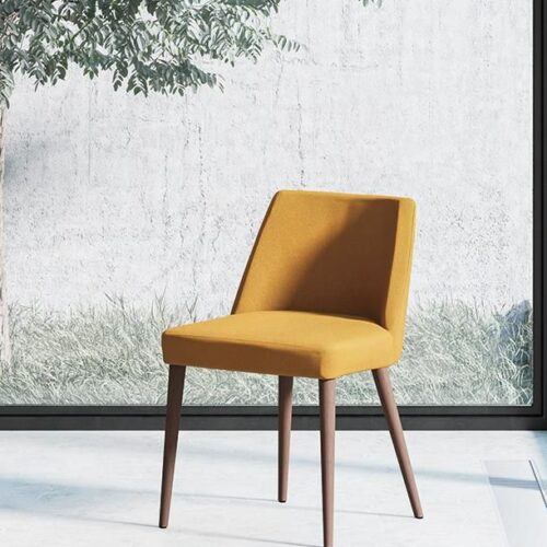 fenice yellow dining chair